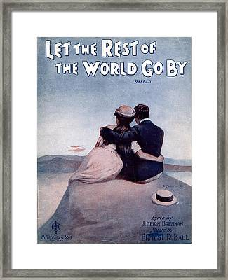 Let The Rest Of The World Go By Framed Print by Mel Thompson