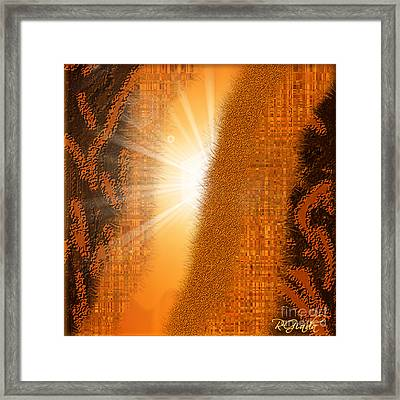 Framed Print featuring the digital art Let The Sunshine In - Abstract Art By Giada Rossi by Giada Rossi