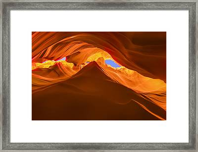 Let The Sunshine In The Canyons Framed Print