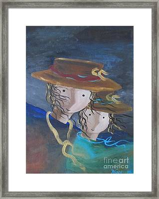 Framed Print featuring the painting Let The Wind Blow by Nereida Rodriguez