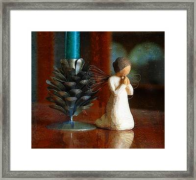 Let Us Pray Framed Print