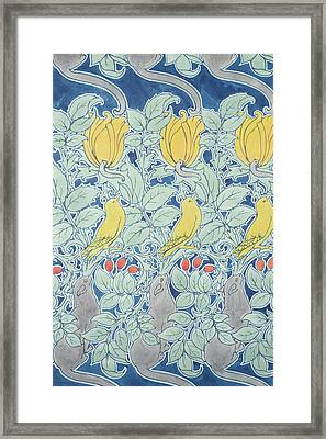 Let Us Prey Wallpaper Framed Print by Charles Francis Annesley Voysey