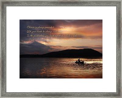 Let Your Hook Be Always Cast Framed Print by Lori Deiter