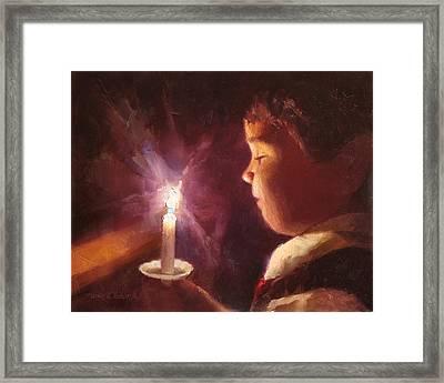 Let Your Light Shine 2 Framed Print by Karen Whitworth