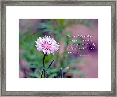 Let Your Light So Shine Framed Print by Deena Stoddard