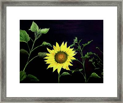 Framed Print featuring the painting Let Your Light So Shine by Jane Autry