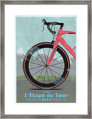 L'etape Du Tour Bike Framed Print by Andy Scullion
