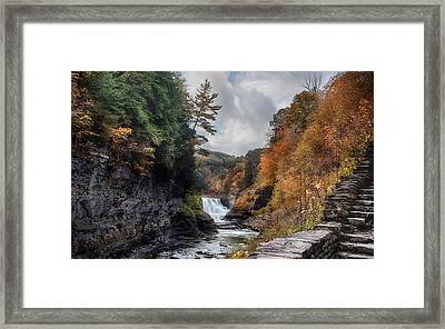 Letchworth Lower Falls Framed Print by Peter Chilelli