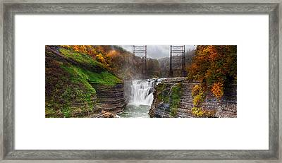 Letchworth Upper Falls 2 Framed Print by Peter Chilelli