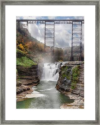 Letchworth Upper Falls 3 Framed Print by Peter Chilelli