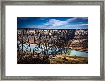 Lethbridge Train Bridge Framed Print