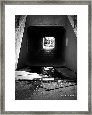 Lethbridge Underpass Framed Print by Donald S Hall