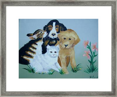 Let's Be Friends Framed Print