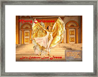 Let's Celebrate Lord Jesus And Dance Framed Print