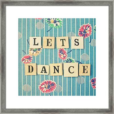 Let's Dance Framed Print by Cassia Beck