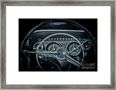 Let's Drive   Moon Glow Framed Print
