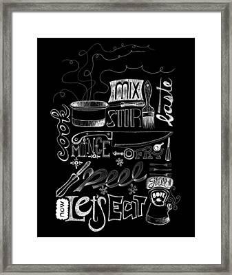 Let's Eat Framed Print by Stephanie Thompson