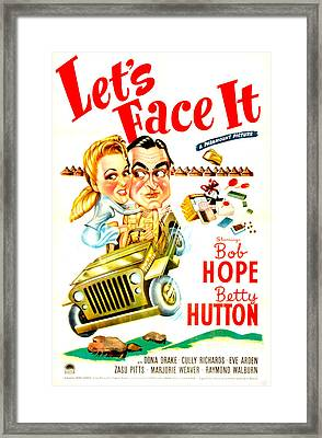Lets Face It, Us Poster, Betty Hutton Framed Print