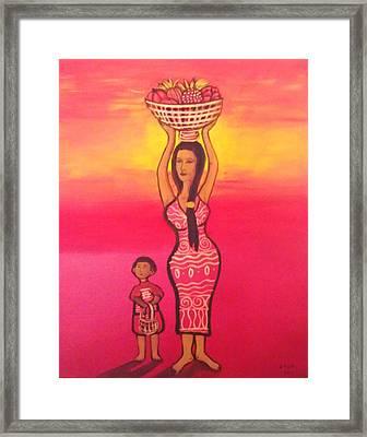 Lets Feed The Hungry Framed Print by Deyanira Harris