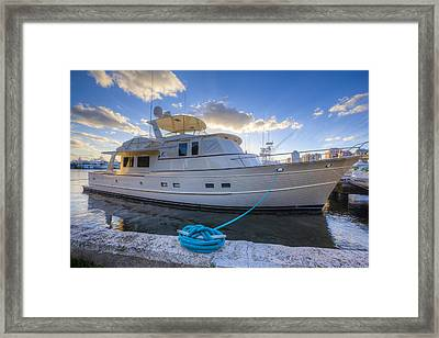 Let's Go Fishing Framed Print by Debra and Dave Vanderlaan