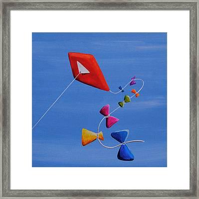 Let's Go Fly A Kite Framed Print by Cindy Thornton