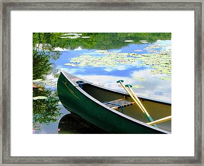 Let's Go Out In The Old Town Framed Print