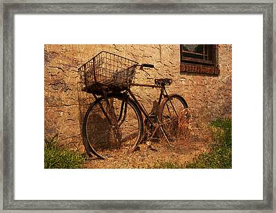 Let's Go Ride A Bike Framed Print