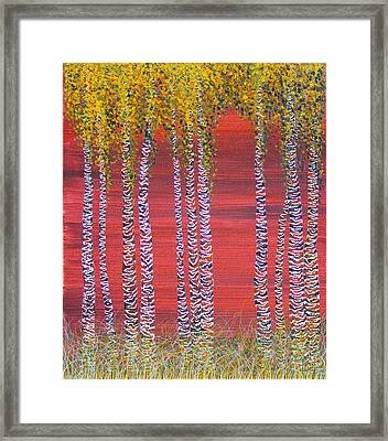 Let's Go Slipping Through The Forest Framed Print