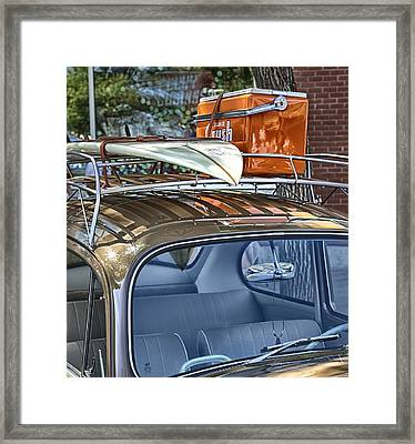 Let's Go Surfing Framed Print by Theresa Tahara