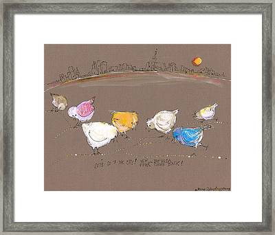 Lets Go To The City Framed Print by Mary Armstrong