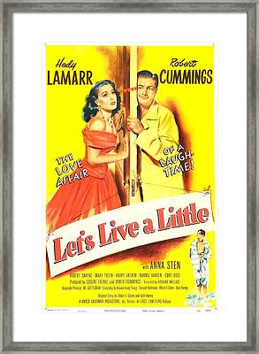 Lets Live A Little, Us Poster, Hedy Framed Print by Everett