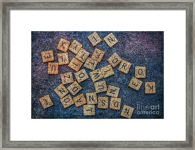 Lets Play Scrabble Framed Print