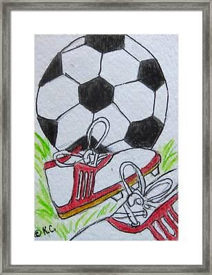 Let's Play Soccer Framed Print