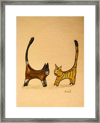 Let's Play Framed Print by Zina Stromberg
