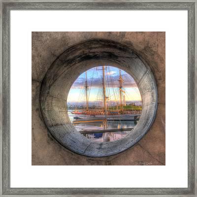 Let's Pretend It's A Porthole Framed Print by Heidi Smith