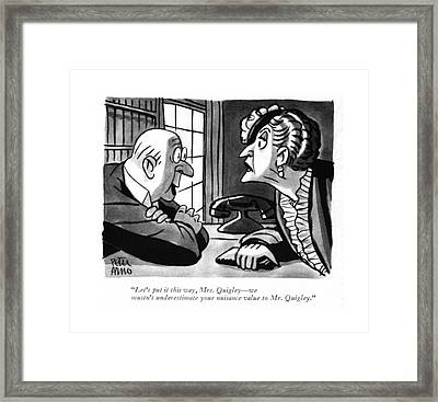 Let's Put It This Way Framed Print by Peter Arno