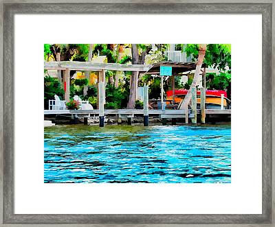 Framed Print featuring the photograph Let's Retire by Pamela Blizzard