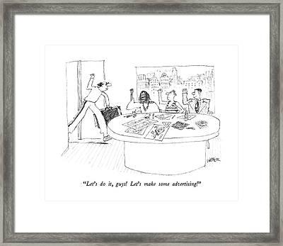 Let's Framed Print by Robert Weber