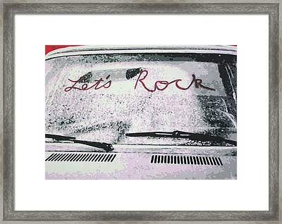 Lets Rock Framed Print by Ludzska