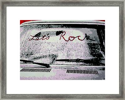 Lets Rock Framed Print