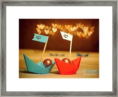 Lets Sail Through Life Together Framed Print