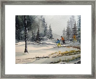 Let's Ski Framed Print