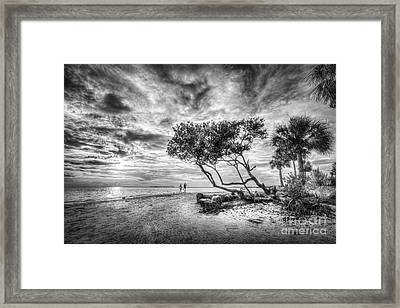 Let's Stay Here Forever Bw Framed Print