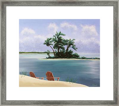 Let's Swim Out To The Island Framed Print