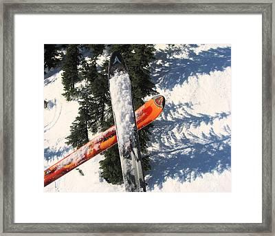 Lets Toast Our Skis Together Framed Print by Kym Backland