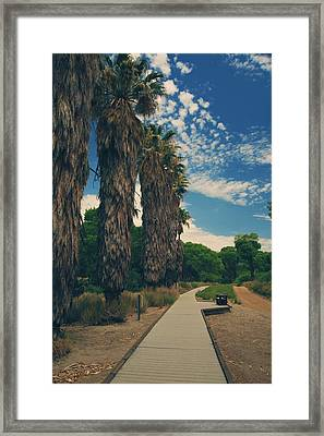 Let's Walk This Path Together Framed Print by Laurie Search