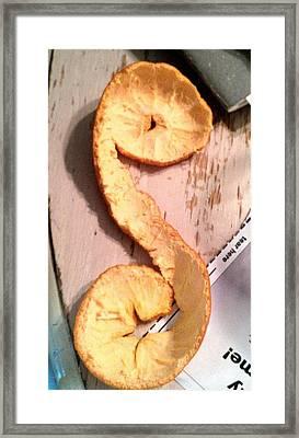 Letter A-peel Framed Print by Lexa Newman