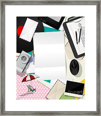 Letter Collage Abstract Framed Print