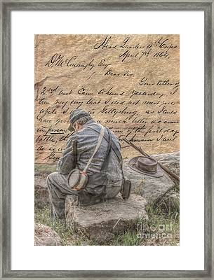 Letter From The Front Breaking The News Framed Print