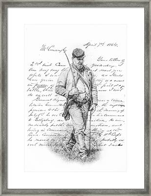 Letter From The Front Framed Print